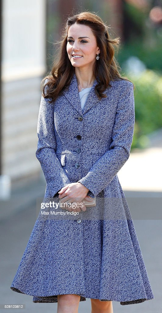 Catherine, Duchess of Cambridge arrives to open the Magic Garden at Hampton Court Palace on May 4, 2016 in London, England.