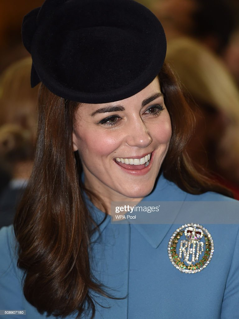 <a gi-track='captionPersonalityLinkClicked' href=/galleries/search?phrase=Catherine+-+Duchess+of+Cambridge&family=editorial&specificpeople=542588 ng-click='$event.stopPropagation()'>Catherine</a>, Duchess of Cambridge arrives to the service of the 75th Anniversary of the RAF Air Cadets at St Clement Danes Church on February 7, 2016 in London, England.