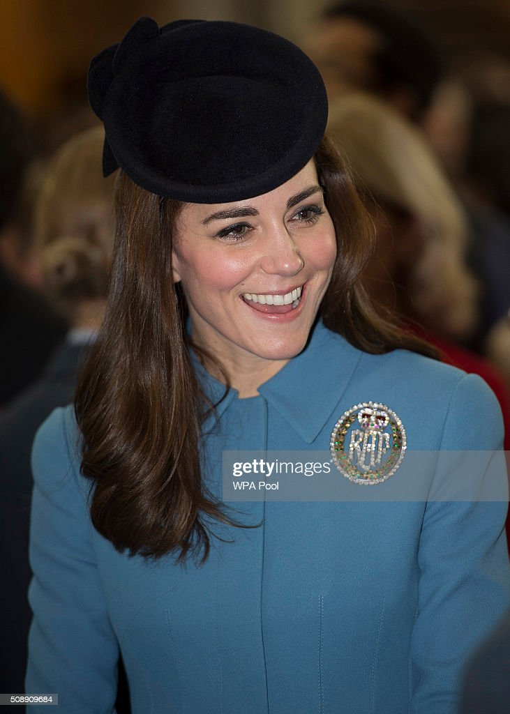 <a gi-track='captionPersonalityLinkClicked' href=/galleries/search?phrase=Catherine+-+Duchesse+de+Cambridge&family=editorial&specificpeople=542588 ng-click='$event.stopPropagation()'>Catherine</a>, Duchess of Cambridge arrives to the service of the 75th Anniversary of the RAF Air Cadets at St Clement Danes Church on February 7, 2016 in London, England.