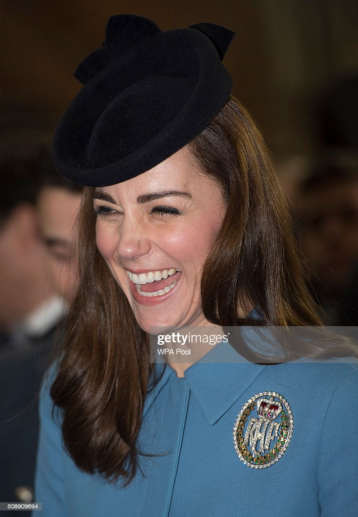 <a gi-track='captionPersonalityLinkClicked' href=/galleries/search?phrase=Catherine+-+Duquesa+de+Cambridge&family=editorial&specificpeople=542588 ng-click='$event.stopPropagation()'>Catherine</a>, Duchess of Cambridge arrives to the service of the 75th Anniversary of the RAF Air Cadets at St Clement Danes Church on February 7, 2016 in London, England.