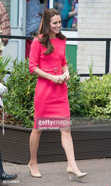 Catherine Duchess of Cambridge as she visits an MPACT Plus Counselling programme at Blessed Sacrament School on July 1 2014 in London England