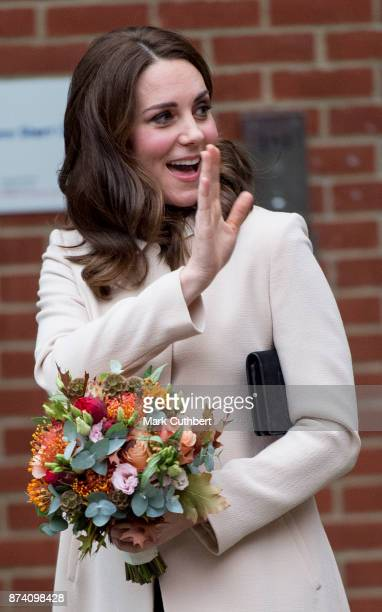 Catherine Duchess of Cambridge at Hornsey Road Children's Centre on November 14 2017 in London England