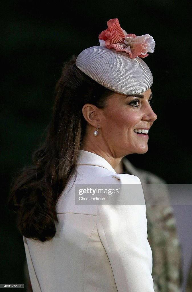 Catherine, Duchess of Cambridge at St Symphorien Military Cemetery on August 4, 2014 in Mons, Belgium. Monday 4th August marks the 100th Anniversary of Great Britain declaring war on Germany. In 1914 British Prime Minister Herbert Asquith announced at 11pm that Britain was to enter the war after Germany had violated Belgium's neutrality. The First World War or the Great War lasted until 11 November 1918 and is recognised as one of the deadliest historical conflicts with millions of casualties. A series of events commemorating the 100th Anniversary are taking place throughout the day.