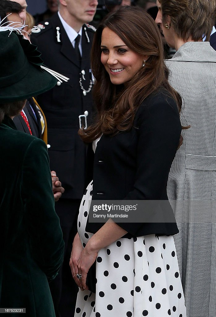 Catherine, Duchess of Cambridge attend the inauguration of Warner Bros. Studio Tour London on April 26, 2013 in Watford, England.