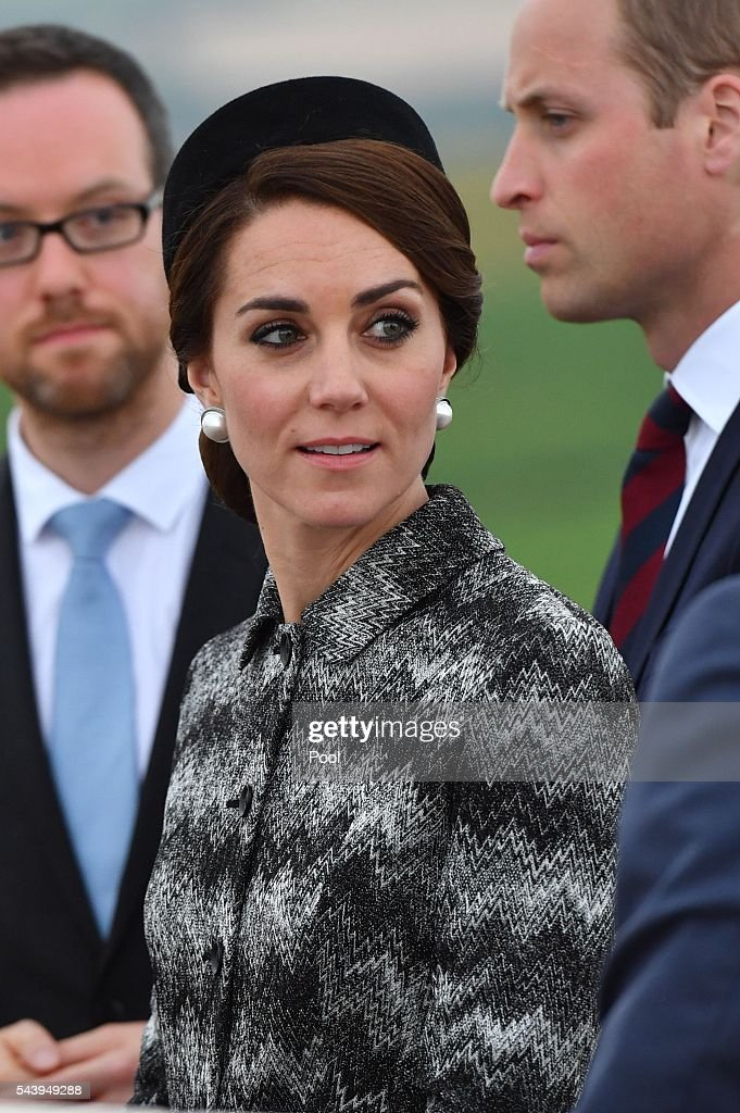 <a gi-track='captionPersonalityLinkClicked' href=/galleries/search?phrase=Catherine+Duchess+of+Cambridge&family=editorial&specificpeople=542588 ng-click='$event.stopPropagation()'>Catherine Duchess of Cambridge</a> attend the Somme Centenary commemorations at the Thiepval Memorial on June 30, 2016 in Albert, France.