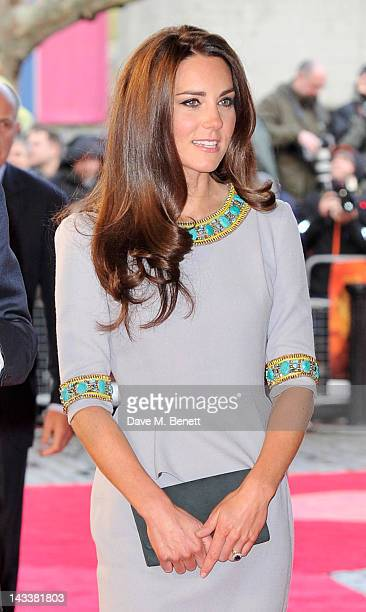 Catherine Duchess of Cambridge attend the UK Premiere of 'African Cats' in aid of Tusk at BFI Southbank on April 25 2012 in London England