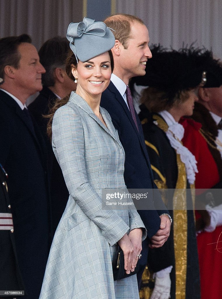 Catherine Duchess of Cambridge attends a Ceremonial Welcome for the President of Singapore Tony Tan Keng Yam at Horse Guards Parade on October 21, 2014 in London, England.