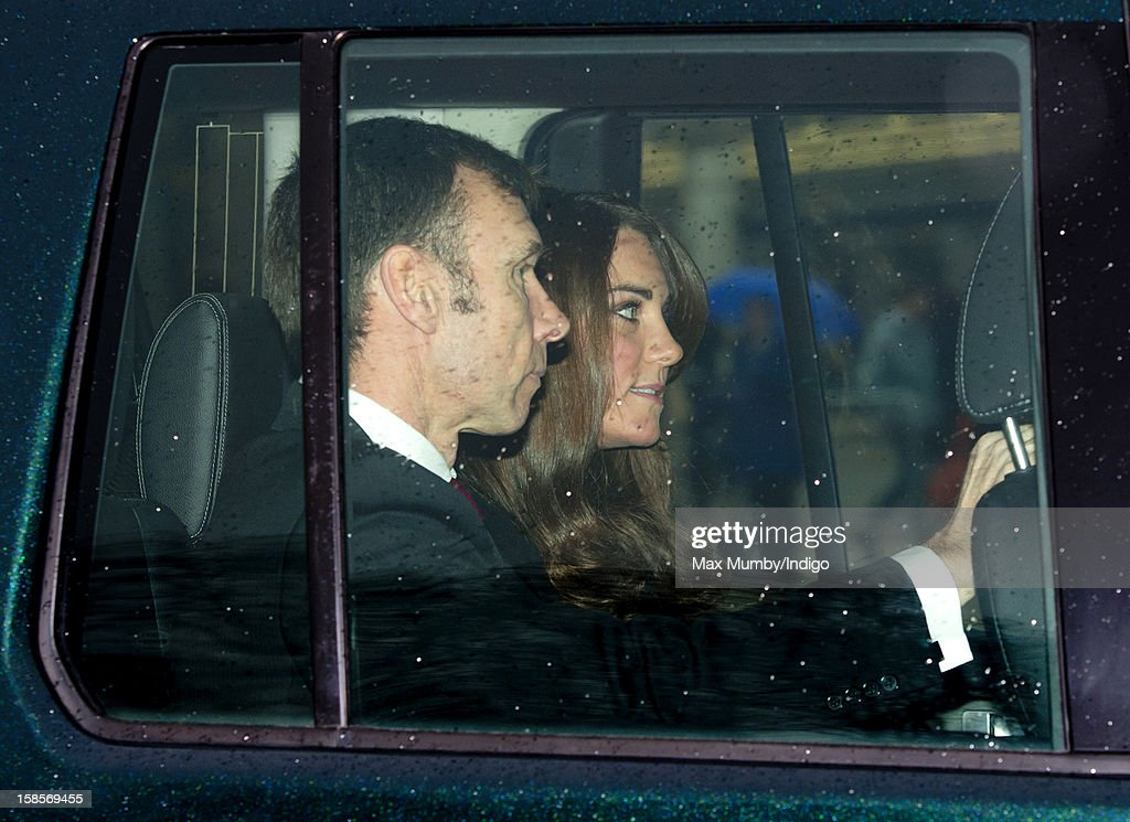 Catherine, Duchess of Cambridge attends a Christmas lunch for members of the Royal Family hosted by Queen Elizabeth II at Buckingham Palace on December 19, 2012 in London, England.