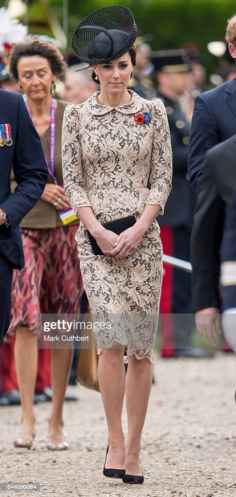Catherine, Duchess of Cambridge attends a Commemoration of the Centenary of the Battle of the Somme at The Commonwealth War Graves Commission Thiepval Memorial on July 1, 2016 in Thiepval, France.