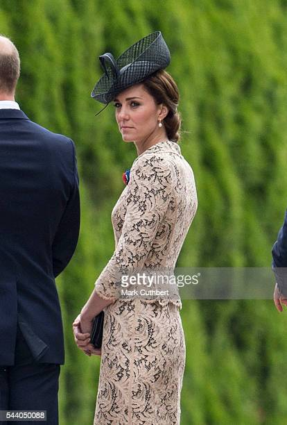 Catherine Duchess of Cambridge attends a Commemoration of the Centenary of the Battle of the Somme at The Commonwealth War Graves Commission Thiepval...