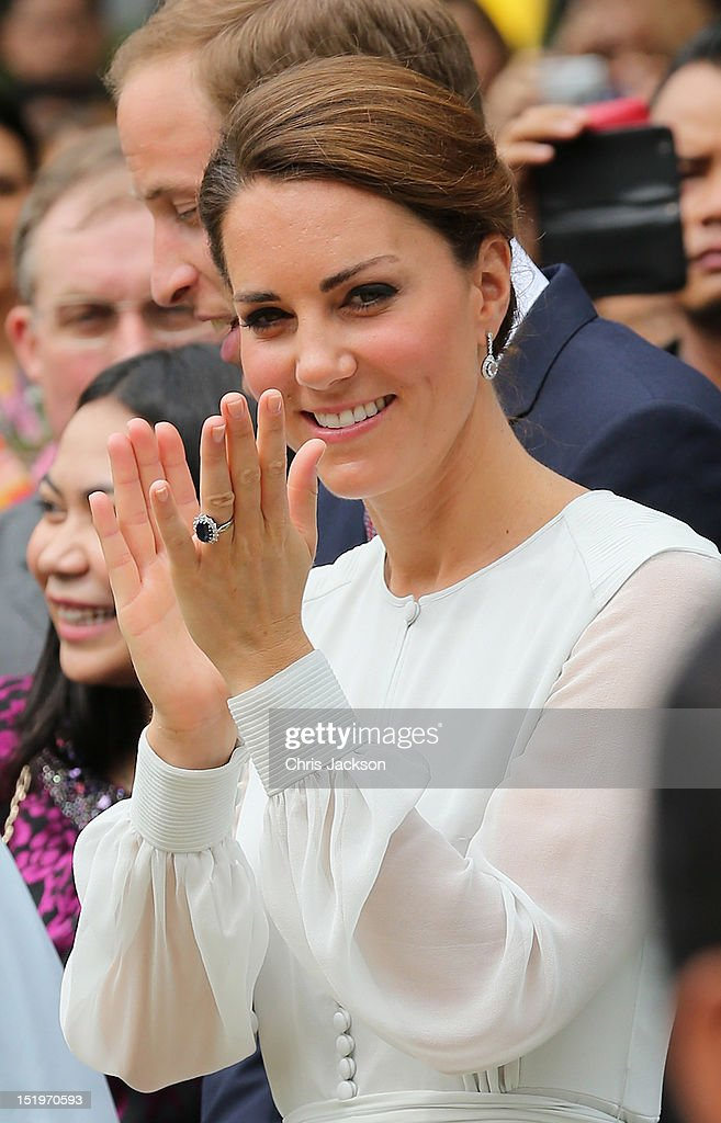 <a gi-track='captionPersonalityLinkClicked' href=/galleries/search?phrase=Catherine+-+Duchess+of+Cambridge&family=editorial&specificpeople=542588 ng-click='$event.stopPropagation()'>Catherine</a>, Duchess of Cambridge attends a cultural event on day 4 of Prince William, Duke of Cambridge and <a gi-track='captionPersonalityLinkClicked' href=/galleries/search?phrase=Catherine+-+Duchess+of+Cambridge&family=editorial&specificpeople=542588 ng-click='$event.stopPropagation()'>Catherine</a>, Duchess of Cambridge's Diamond Jubilee Tour of the Far East on September 14, 2012 in Kuala Lumpur, Malaysia. Prince William, Duke of Cambridge and <a gi-track='captionPersonalityLinkClicked' href=/galleries/search?phrase=Catherine+-+Duchess+of+Cambridge&family=editorial&specificpeople=542588 ng-click='$event.stopPropagation()'>Catherine</a>, Duchess of Cambridge are on a Diamond Jubilee Tour of the Far East taking in Singapore, Malaysia, the Solomon Islands and the tiny Pacific Island of Tuvalu.