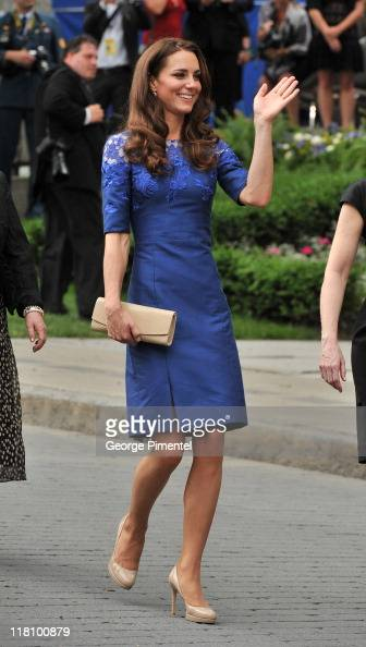 Catherine Duchess of Cambridge attends a Freedom of the City Ceremony outside City Hall on July 3 2011 in Quebec Canada