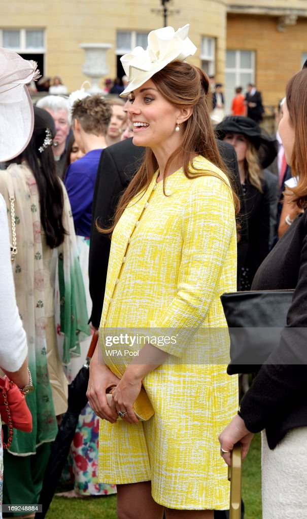 <a gi-track='captionPersonalityLinkClicked' href=/galleries/search?phrase=Catherine+-+Duchess+of+Cambridge&family=editorial&specificpeople=542588 ng-click='$event.stopPropagation()'>Catherine</a>, Duchess of Cambridge attends a Garden Party in the grounds of Buckingham Palace hosted by Queen Elizabeth II on May 22, 2013.