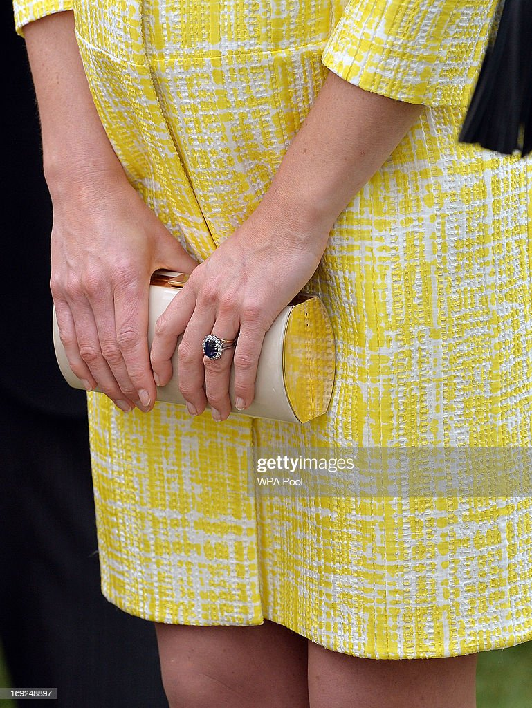 Catherine, Duchess of Cambridge (detail) attends a Garden Party in the grounds of Buckingham Palace hosted by Queen Elizabeth II on May 22, 2013.