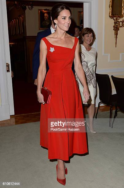 Catherine Duchess of Cambridge attends a Goverment of British Columbia reception at Government House on September 26 2016 in Victoria Canada