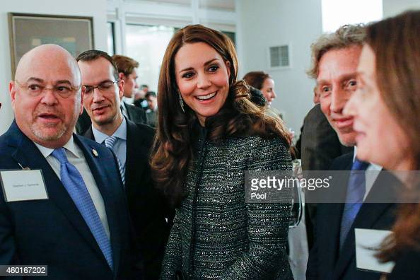 Catherine Duchess of Cambridge attends a reception cohosted by the Royal Foundation and the Clinton Foundation at British Consul General's Residence...