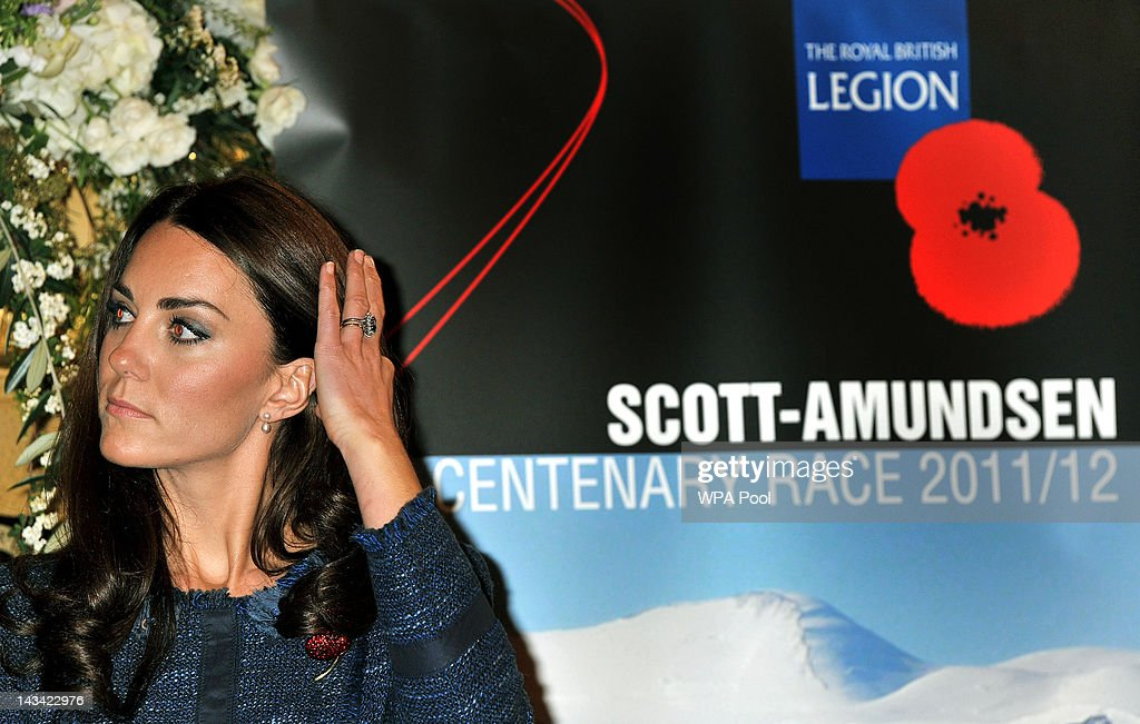 Catherine, Duchess of Cambridge attends a Reception For The Scott-Amundsen Centenary Race at Goldsmiths Hall on April 26, 2012 in London, England.