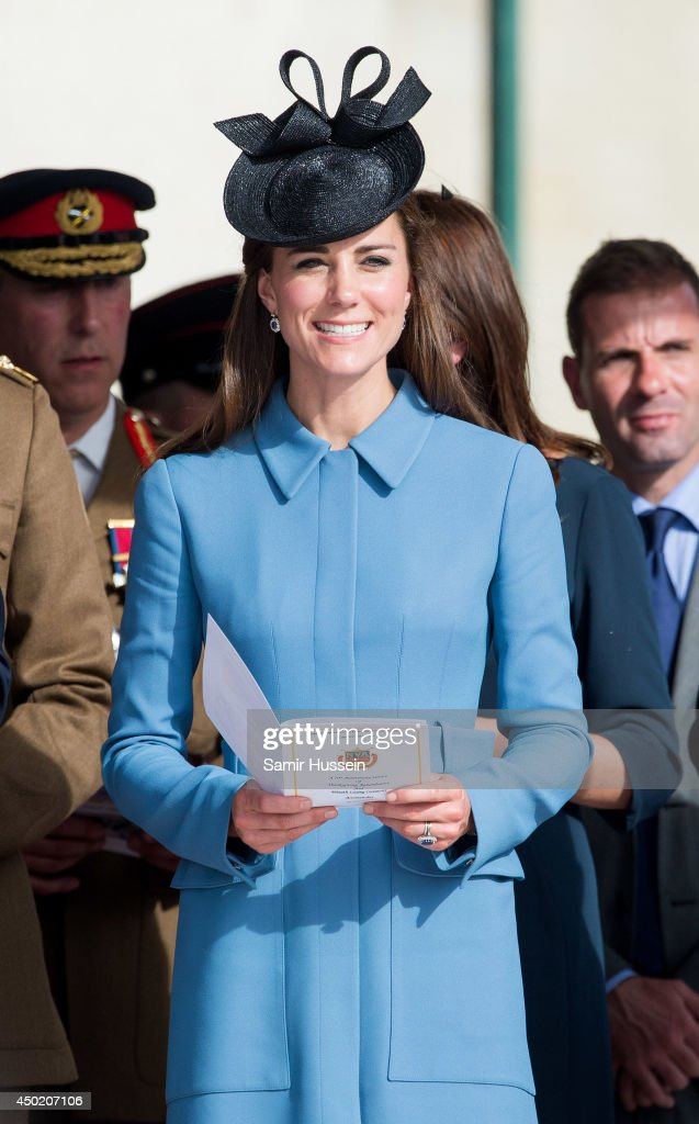 Catherine, Duchess of Cambridge attends a service during the D-Day 70 Commemorations on June 6, 2014 in Arromanches Les Bains, France.