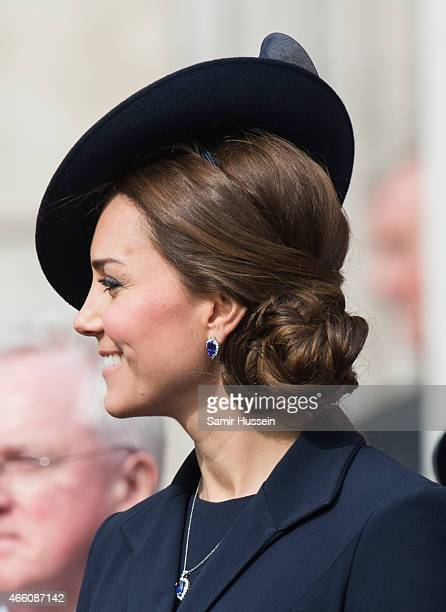 Catherine Duchess of Cambridge attends a Service of Commemoration for troops who were stationed in Afghanistan on March 13 2015 in London England