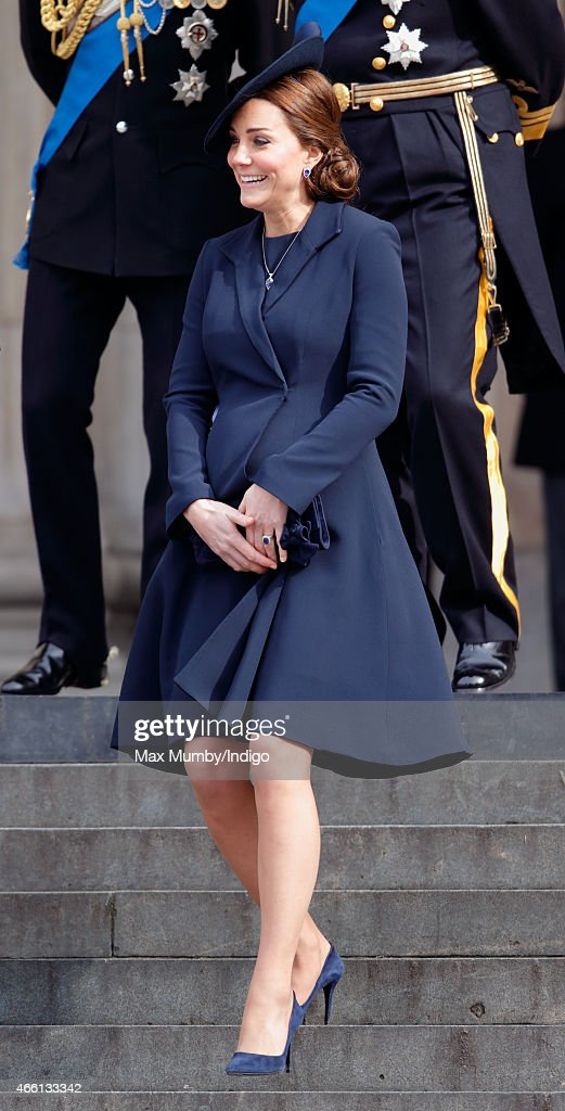 Catherine, Duchess of Cambridge attends a Service of Commemoration to mark the end of combat operations in Afghanistan at St Paul's Cathedral on March 13, 2015 in London, England.