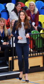 Catherine Duchess of Cambridge attends a Sportaid Athlete Workshop at the Copper Box on October 18 2013 in London England