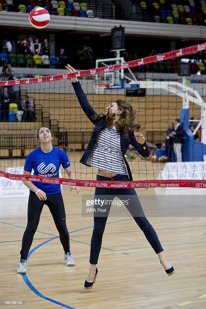 <a gi-track='captionPersonalityLinkClicked' href=/galleries/search?phrase=Catherine+-+Duchess+of+Cambridge&family=editorial&specificpeople=542588 ng-click='$event.stopPropagation()'>Catherine</a>, Duchess of Cambridge attends a Sportaid Athlete Workshop at Queen Elizabeth Olympic Park on October 18, 2013 in London, England.