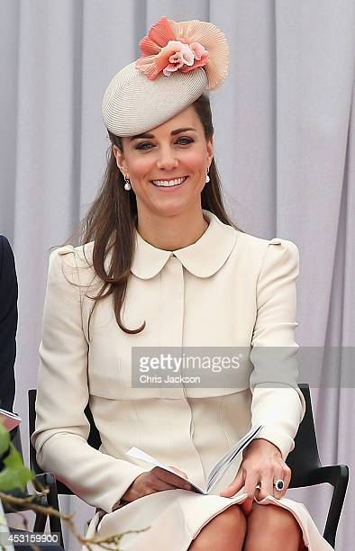 Catherine Duchess of Cambridge attends a WW1 100 Years Commomoration Ceremony at Le Memorial Interallie on August 4 2014 in Liege Belgium Monday 4th...