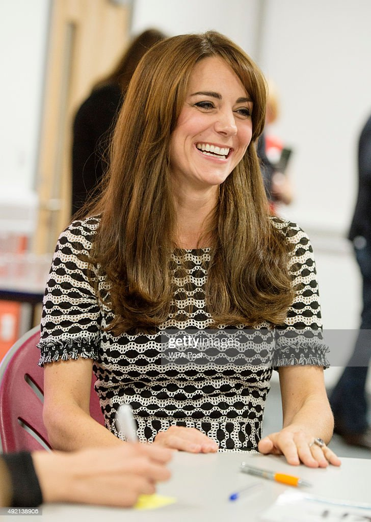 Catherine, Duchess of Cambridge attends an event hosted by Mind, at Harrow College to mark World Mental Health Day on October 10, 2015 in Harrow, England.