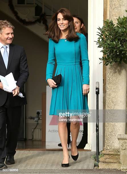 Catherine Duchess of Cambridge attends an official visit to the Action on Addiction Centre for addiction treatment studies at Action on Addiction...