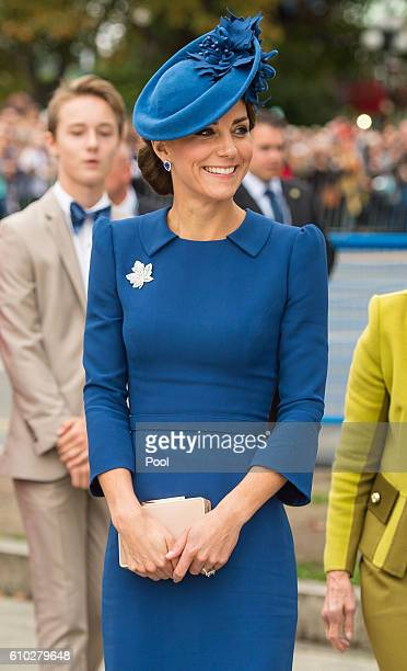 Catherine Duchess of Cambridge attends an official welcome ceremony at the Legislative Assembly of British Columbia at Victoria International Airport...