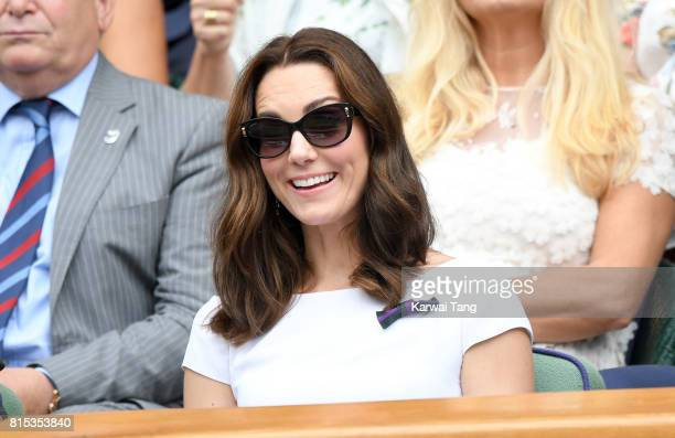 Catherine Duchess of Cambridge attends day 13 of Wimbledon 2017 on July 16 2017 in London England