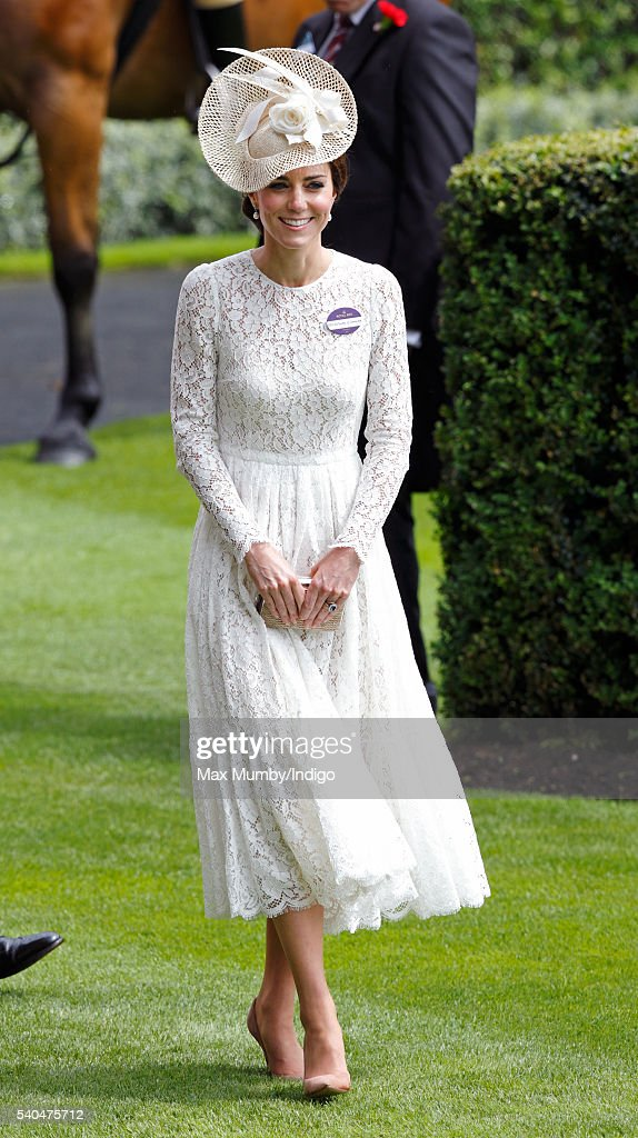 Catherine, Duchess of Cambridge attends day 2 of Royal Ascot at Ascot Racecourse on June 15, 2016 in Ascot, England.