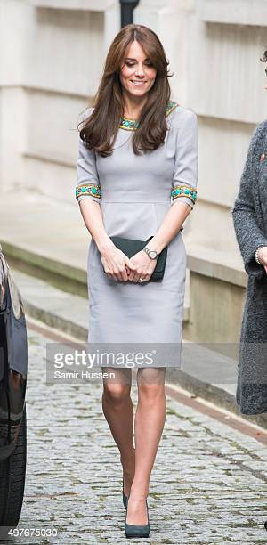 Catherine Duchess of Cambridge attends Place2Be Headteacher Conference at Bank of America Merrill Lynch on November 18 2015 in London England