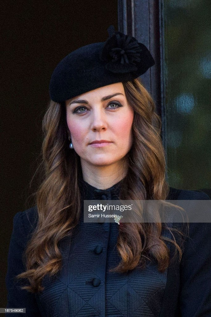 Catherine, Duchess of Cambridge attends Remembrance Sunday at the Cenotaph on Whitehall on November 10, 2013 in London, England.