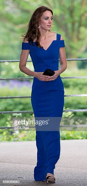 Catherine Duchess of Cambridge attends SportsAid's 40th anniversary dinner on June 9 2016 in London England On arrival The Duchess will met SportsAid...