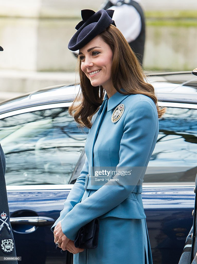 <a gi-track='captionPersonalityLinkClicked' href=/galleries/search?phrase=Catherine+-+Duchess+of+Cambridge&family=editorial&specificpeople=542588 ng-click='$event.stopPropagation()'>Catherine</a>, Duchess of Cambridge attends St Clement Danes Church for a service to mark the 75th Anniversary of the RAF Air Cadets on February 7, 2016 in London, England.