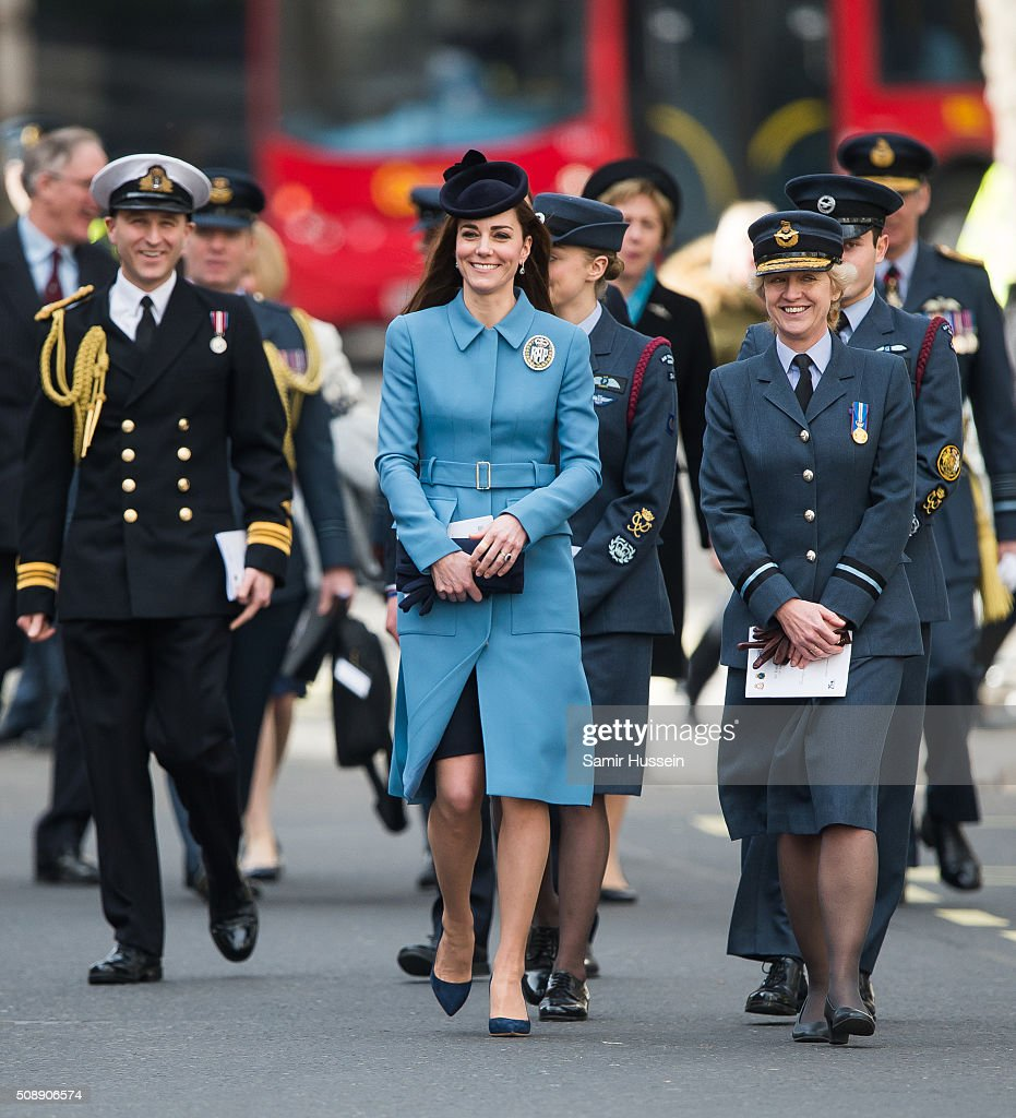 <a gi-track='captionPersonalityLinkClicked' href=/galleries/search?phrase=Catherine+-+Duchesse+de+Cambridge&family=editorial&specificpeople=542588 ng-click='$event.stopPropagation()'>Catherine</a>, Duchess of Cambridge attends St Clement Danes Church for a service to mark the 75th Anniversary of the RAF Air Cadets on February 7, 2016 in London, England.
