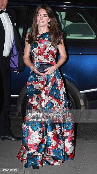 Catherine Duchess of Cambridge attends the 100 Women In Hedge Funds Gala Dinner In Aid Of The Art Room at the Victoria and Albert Museum on October...