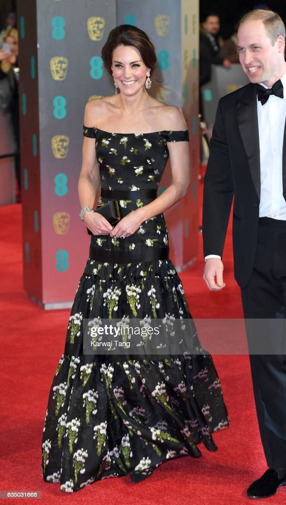 Catherine, Duchess of Cambridge attends the 70th EE British Academy Film Awards (BAFTA) at the Royal Albert Hall on February 12, 2017 in London, England.