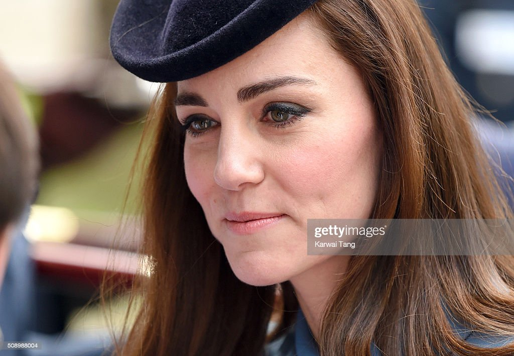 <a gi-track='captionPersonalityLinkClicked' href=/galleries/search?phrase=Catherine+-+Hertiginna+av+Cambridge&family=editorial&specificpeople=542588 ng-click='$event.stopPropagation()'>Catherine</a>, Duchess of Cambridge attends the 75th anniversary of the RAF Air Cadets at St Clement Danes Church on February 7, 2016 in London, England.