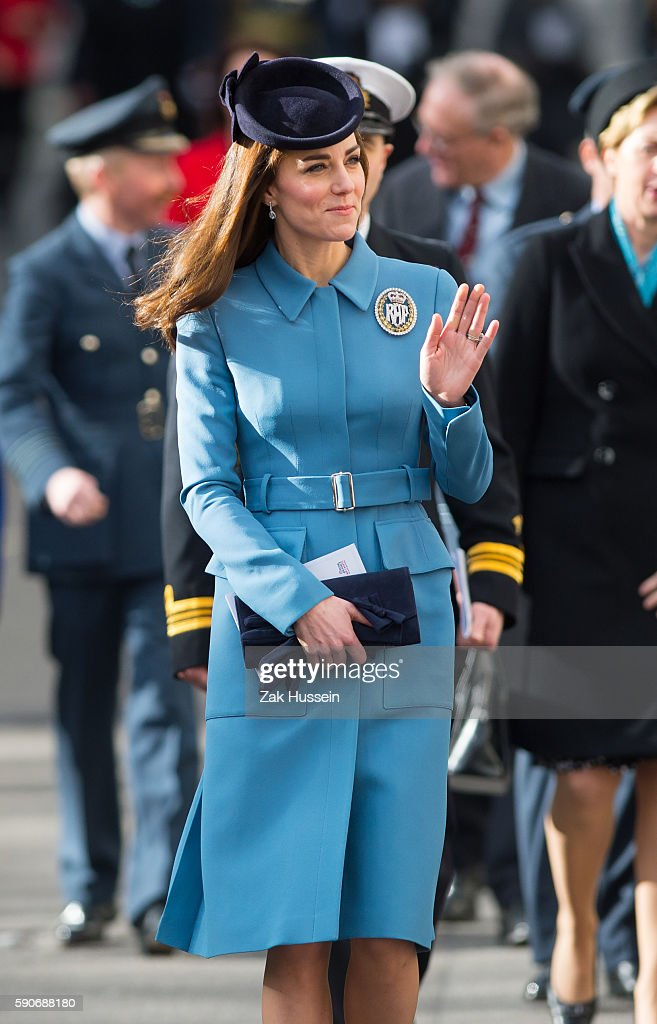 Catherine Duchess of Cambridge attends the 75th anniversary of the RAF Air Cadets at St Clement Danes Church in London
