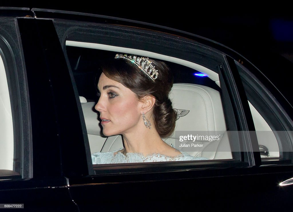 Catherine, Duchess of Cambridge, attends the annual Diplomatic Reception at Buckingham Palace on December 8, 2015 in London, England.(Photo by Julian Parker/UK Press via Getty Images