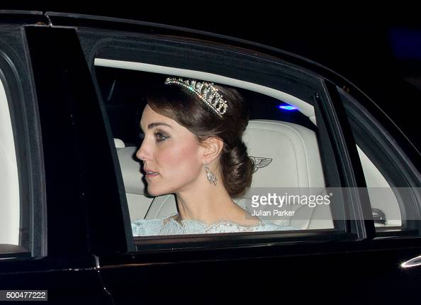 Catherine Duchess of Cambridge attends the annual Diplomatic Reception at Buckingham Palace on December 8 2015 in London EnglandPhoto by Julian...