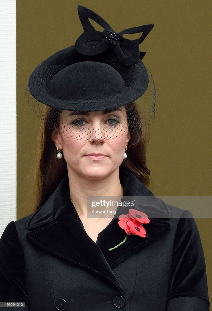 Catherine, Duchess of Cambridge attends the annual Remembrance Sunday Service at the Cenotaph, Whitehall on November 8, 2015 in London, England.