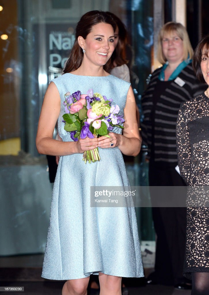 Catherine, Duchess of Cambridge attends The Art Room reception at National Portrait Gallery on April 24, 2013 in London, England.