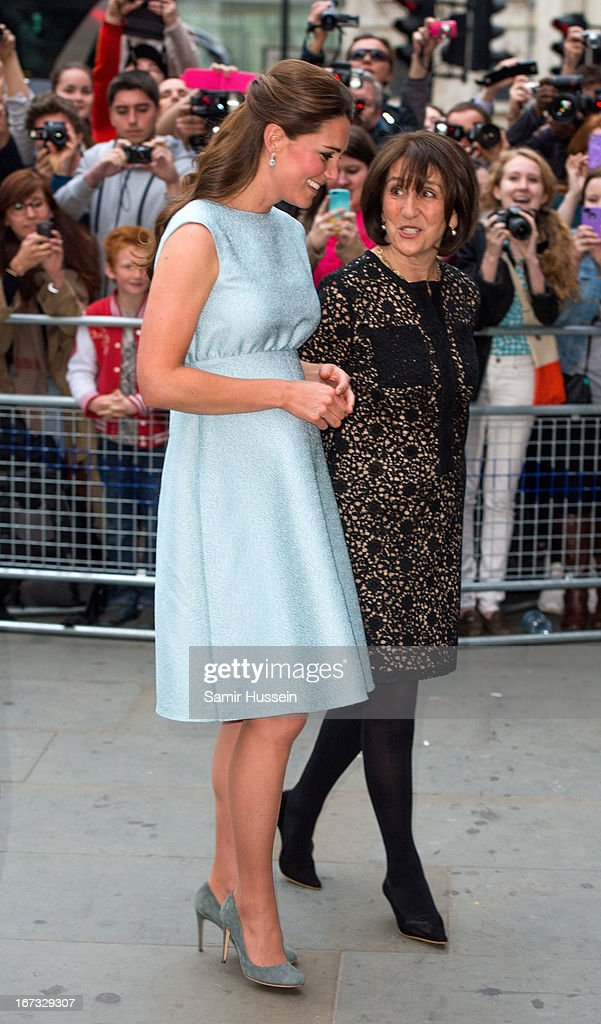 Catherine, Duchess of Cambridge attends The Art Room Reception at the National Portrait Gallery on April 24, 2013 in London, England.