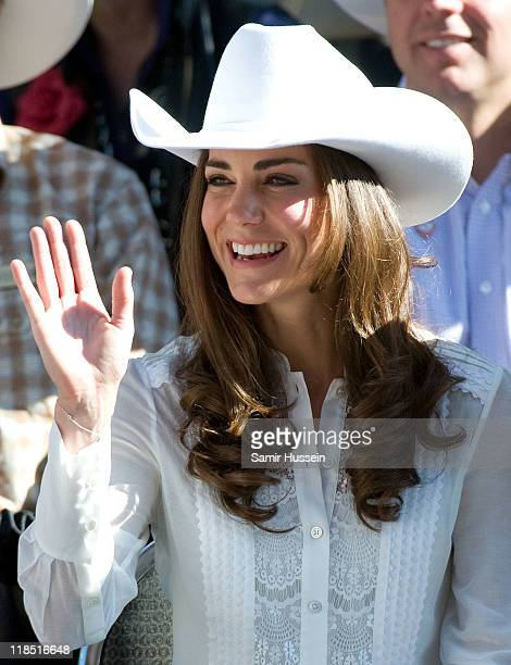 Catherine Duchess of Cambridge attends the Calgary Stampede on day 9 of the Royal couple's tour of North America on July 8 2011 in Calgary Canada