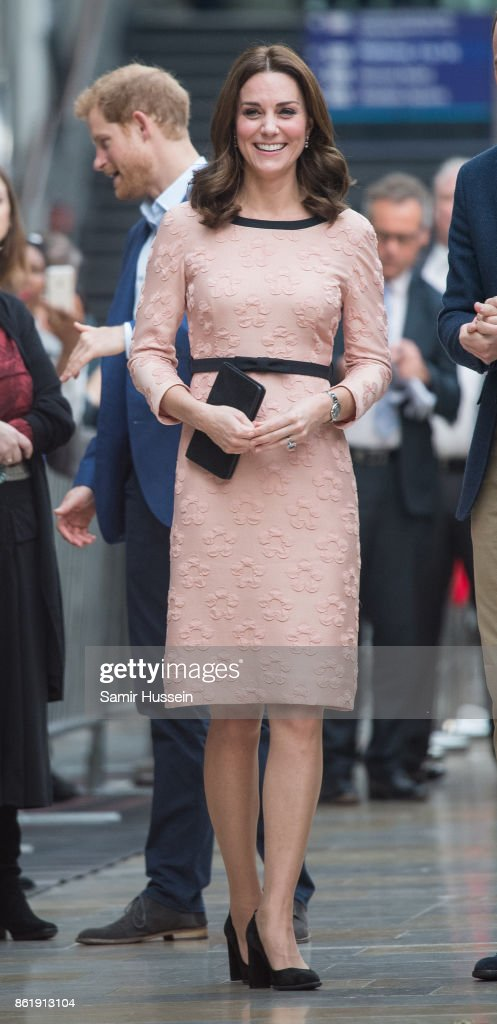 Catherine, Duchess of Cambridge attends the Charities Forum Event on board the Belmond Britigh Pullman train at Paddington Station on October 16, 2017 in London, England.