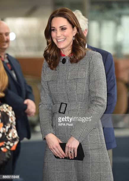 Catherine Duchess of Cambridge attends the Children's Global Media Summit at the Manchester Central Convention on December 6 2017 in Manchester...