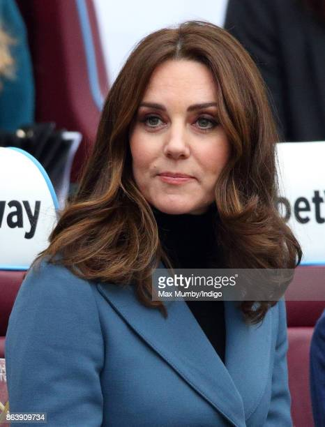 Catherine Duchess of Cambridge attends the Coach Core graduation ceremony for more than 150 Coach Core apprentices at The London Stadium on October...